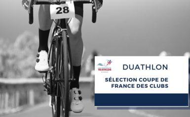 Résultats sélectif coupe de France des clubs de Duathlon