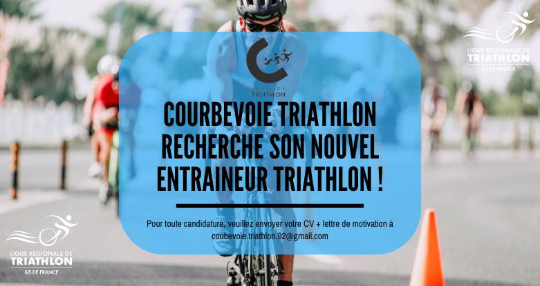 Courbevoie Triathlon recherche un nouvel entraineur